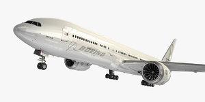 boeing 777-8 generic white 3D