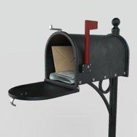 american mailbox 3D model