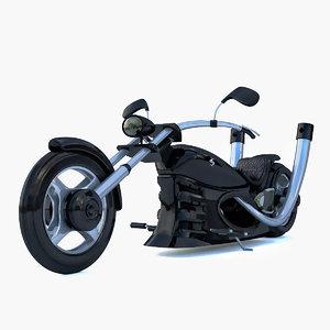 chopper black 3D model