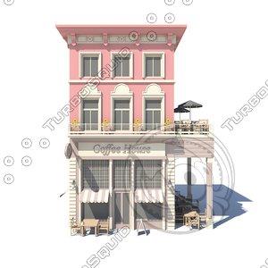 coffeeshop 02 3D model