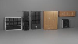 kit muebles 3D model