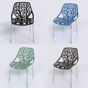 3D urbanmod modern chairs stackable model