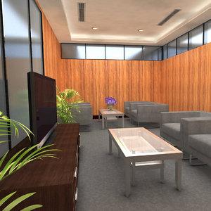 3D scene meeting room