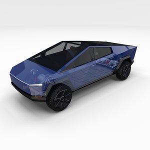 tesla cybertruck chassis model