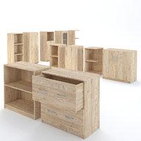 Cabinet Wooden Furniture Set 1
