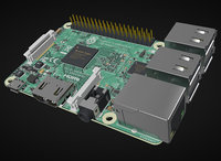 pi raspberry 3D model