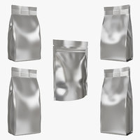 3D packaging coffee bags set model