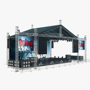 outdoor concert stage lighting model