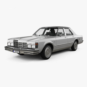 chrysler lebaron medallion 3D model