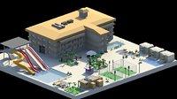 3D holiday resort model