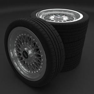 bbs wheel rim 3D model