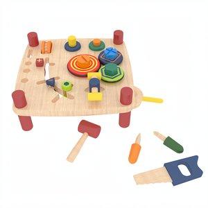 wooden toy montessori 3D