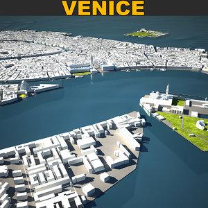 venice skyline 3D model