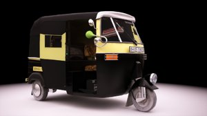 3D model indian auto rickshaw vehicle