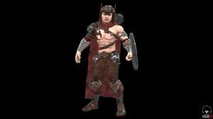 warrior men 3D model