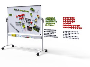 3D white board vs english model