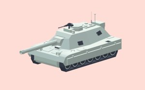 simple cartoon tank 3D model