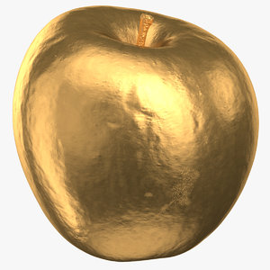 3D model ambrosia apple 02 gold