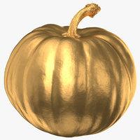 pumpkin 02 gold 3D model