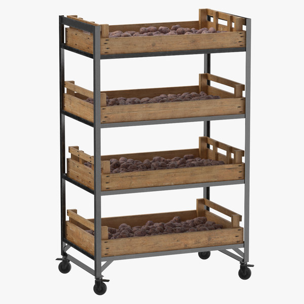 retail shelf 02 01 3D model