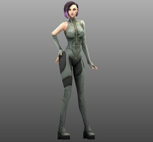 3D woman female character model