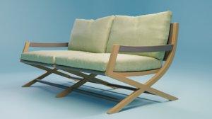 3D emily bench model