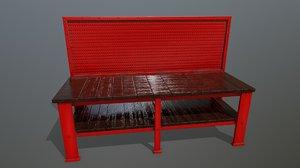 3D workbench bench model