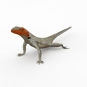 3D lizard lava model