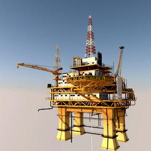 oil platform 3D