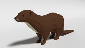 otter blender ready 3D