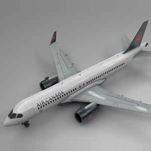 air canada airbus a220-300 3D model