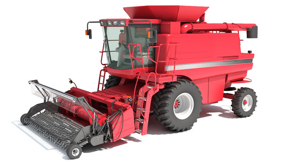 combine harvester 3D