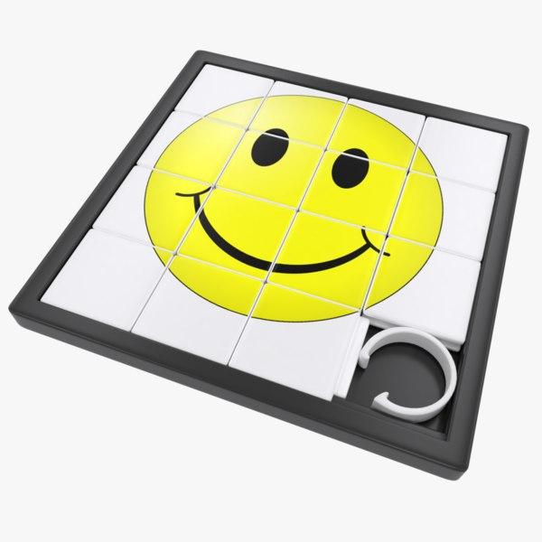 picture slide puzzle toy 3D model