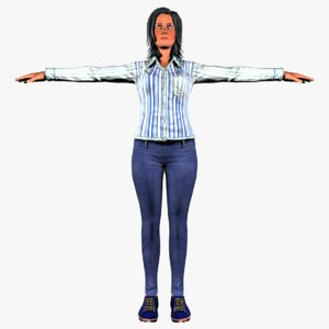 character women 3D model