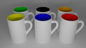 cup ceramic model