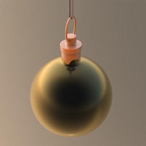 3D christmas ornament ball black