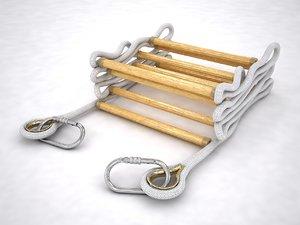 folded rope ladder 3D