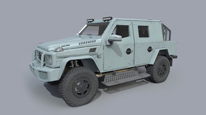armored mercedes g500 modelled model