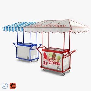trolley freezer ice cream 3D model