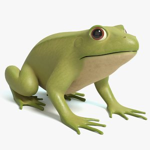 3D model cartoon frog