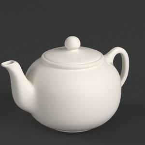 porcelain teapot 1 model