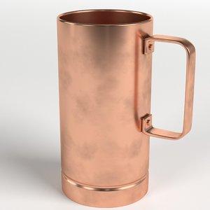 pure copper tall mug model