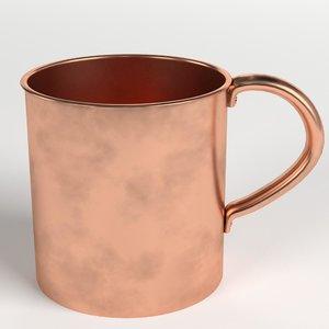 3D pure copper tumbler