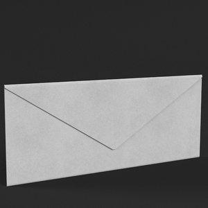rectangular envelope closed 3D model