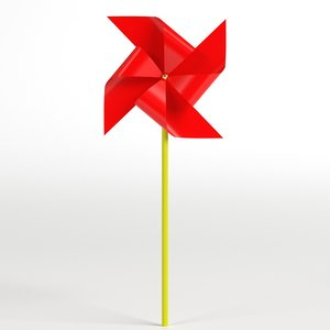 red pinwheel model