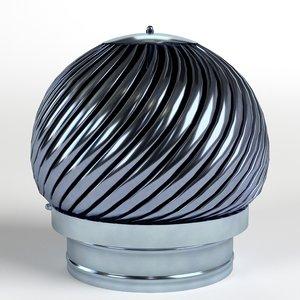 rotating chimney cap 3D