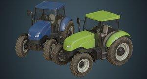 3D tractor 1b model