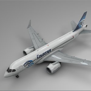 egyptair airbus a220-300 l574 model