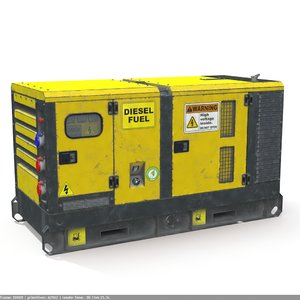 3D power generator pbr model