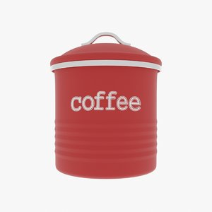 coffee canister 3D model